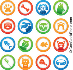 Vector collection with funny cats and dogs