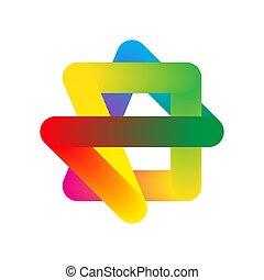 vector., -, coloré, forme, résumé