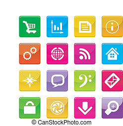Vector color application icons isolated on white background