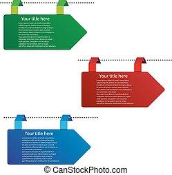 Vector color arrow tags