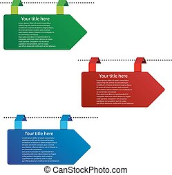 Vector color arrow tags