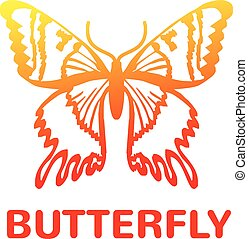 Vector color butterfly icon illustration