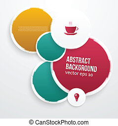 Vector color circles. Abstract background