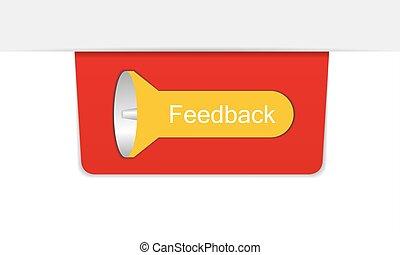 Vector color feedback icon
