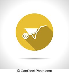 Vector color flat barrow icon