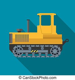 Vector color flat heavy machine icon