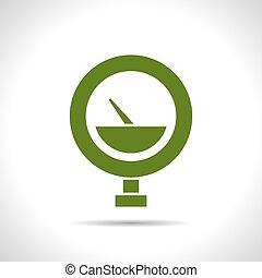 Vector color flat manometer icon - Vector flat color...
