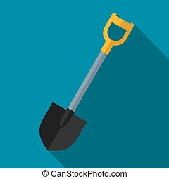 Vector color flat shovel icon