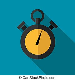 Vector color flat stopwatch icon