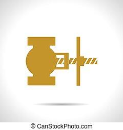 Vector color flat valve icon