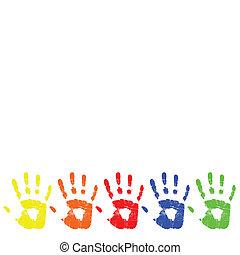 vector color hand