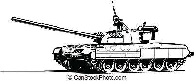 heavy tank - Vector color illustration of modern heavy tank....