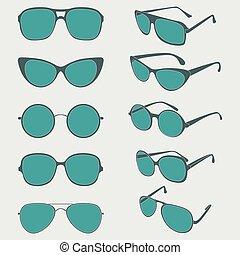 Vector color illustration of sunglasses frames