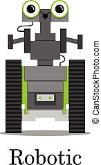 Vector color illustration of the robot.