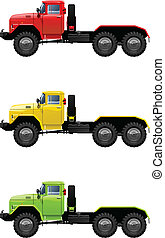 Vector color illustration of truck . (Simple gradients only - no gradient mesh.)
