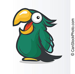 cockatoo - Vector color image of a cockatoo