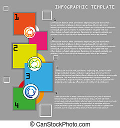 Vector color infographic template