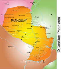 Paraguay - Vector color map of Paraguay country