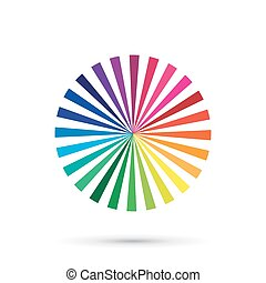 Vector color palette, color spectrum isolated on white
