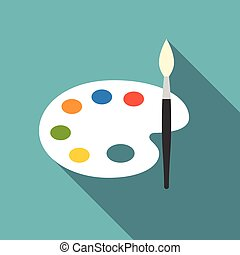 Vector color palette icon, flat design