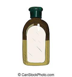 Vector color sketch of bottle