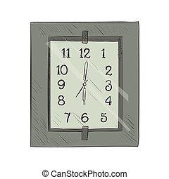Vector color sketch of clock