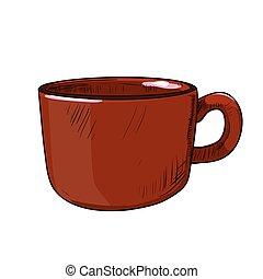 Vector color sketch of cup