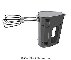 Vector color sketch of electric mixer