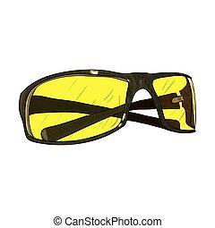Vector color sketch of glasses