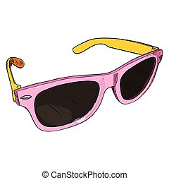 Vector color sketch of glasses