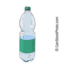 Vector color sketch of plastic bottle