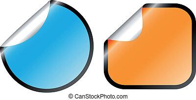 Vector color stickers