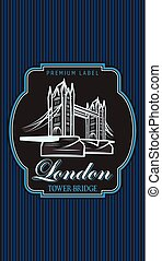 Vector color template for business card design with London...