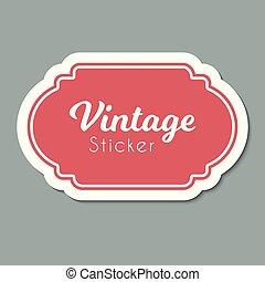 Vector color vintage label. Frame for design