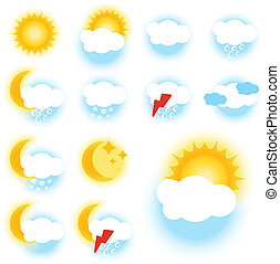 Vector color weather symbols - sign, icon - EPS 10