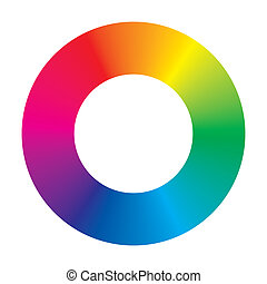 Vector Color Wheel - vector color wheel on white background