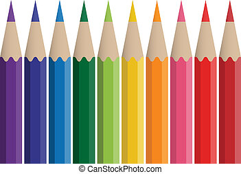 vector colored crayons