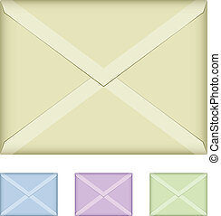 vector colored envelopes