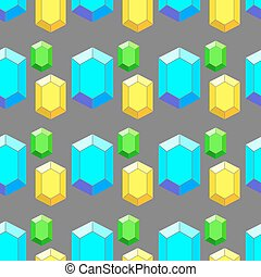 Vector colored geometric seamless pattern with diamonds