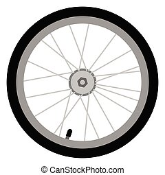 Vector, colored illustration of bicycle wheel