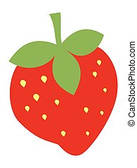 Vector, colored illustration of strawberry