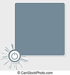 Vector colored text box and power button