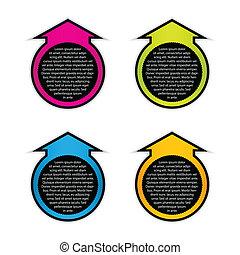 vector colorful arrow stickers