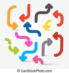 Vector Colorful Arrows Set