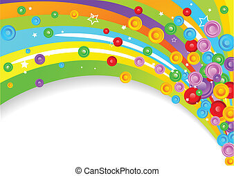 Vector colorful background with circles