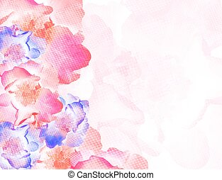 Vector colorful background with flowers. EPS10.