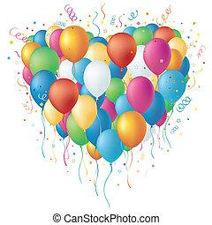 vector colorful balloon