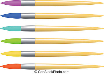 Vector colorful brush set