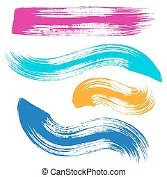 Vector colorful brush strokes