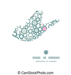 Vector colorful bubbles bird silhouette pattern frame